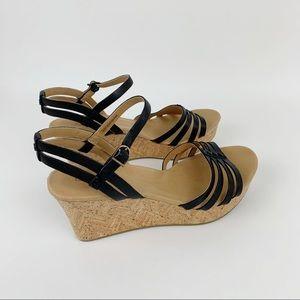 UGG | Brigitte Leather Strap Wedge Sandal